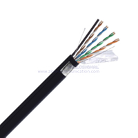 F/UTP CAT 5E BC PVC CMP M Twisted Pair Steel Messenger Cable