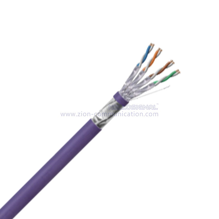 F/FTP CAT 6A BC PVC CMP Twisted Pair Installation Cable