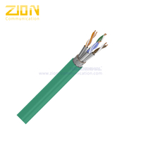 S/FTP CAT 7 BC PVC CMP Twisted Pair Installation Cable